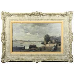 Framed Oil Painting on Panel by Frederick Porter Vinton