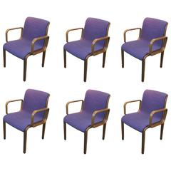 Set of Six Bill Stephens for Knoll Armchairs