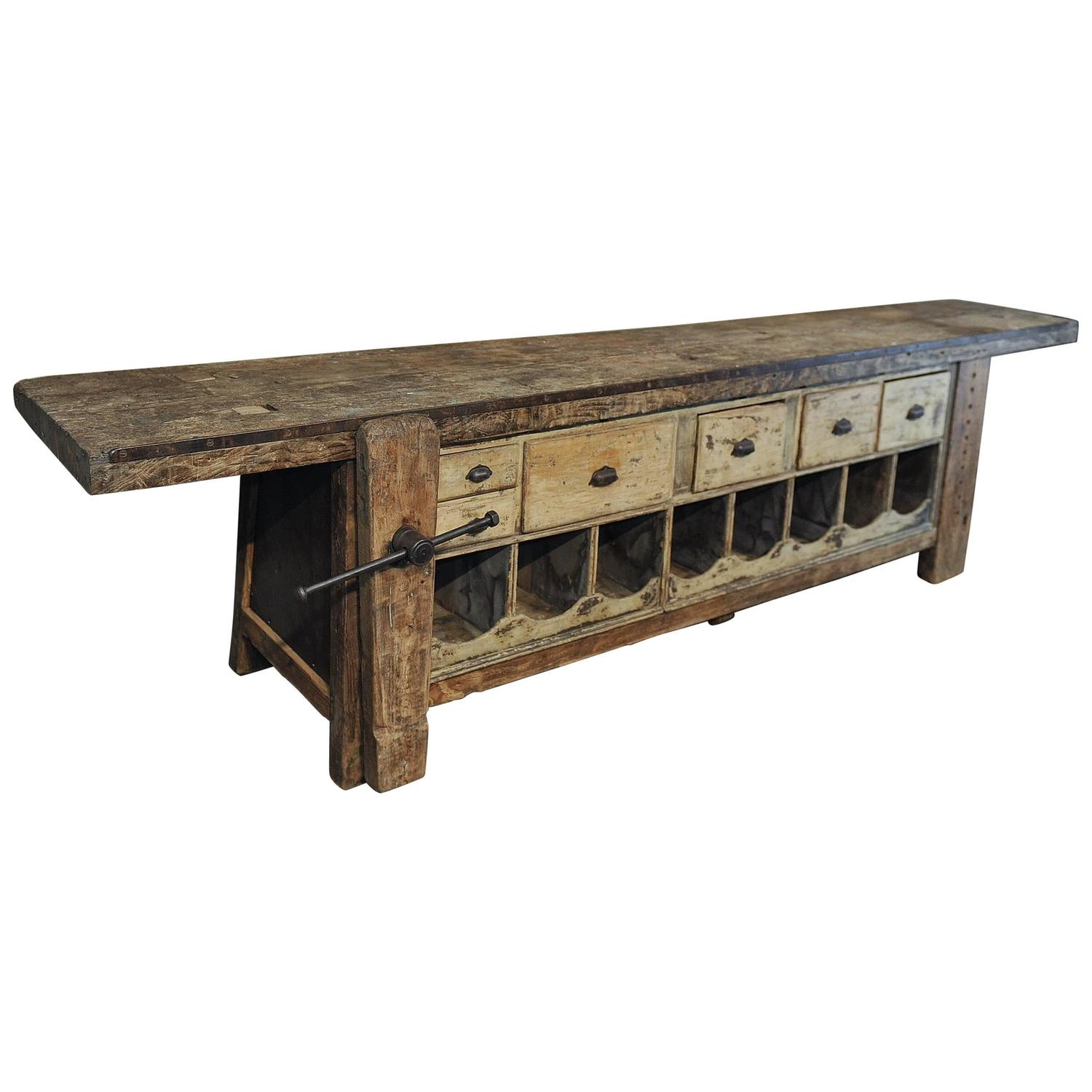 Antique Storage Cabinets Vintage Industrial Antique Wooden Printers Cabinet With Storage