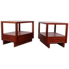 Pair of Nightstands by Frank Lloyd Wright for Henredon