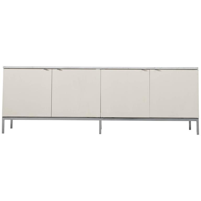 Florence Knoll Sideboard with Marble Top for Knoll International