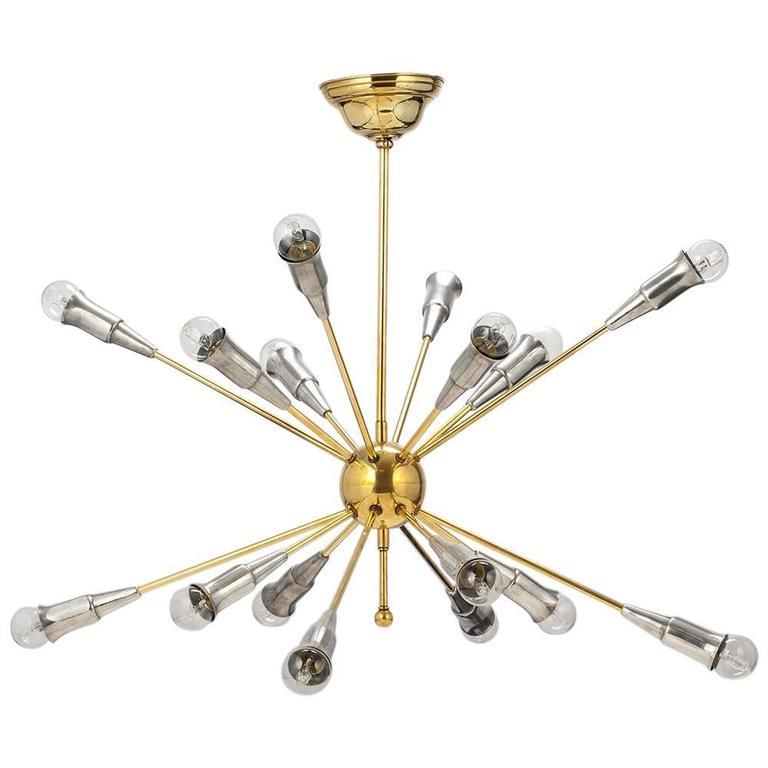 Sputnik Chandelier, French, 16 Arms, circa 1960