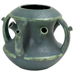 Paul Dachsel Ceramic Green Tulip Vase, Austria, 1904