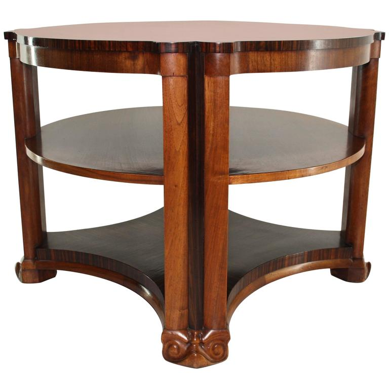 Art Deco Side Table In Mahogany And Macassar Ebony By Michel De