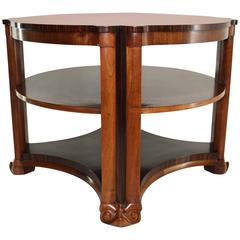 Art Deco Side Table in Mahogany and Macassar Ebony by Michel De Klerk