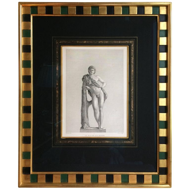 Very Handsome, Framed Engraving of Cupid