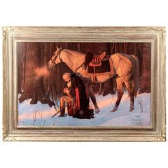 Prayer at Valley Forge by Arnold Friberg Dedicated to Richard Nixon