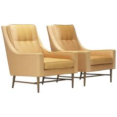 Lounge Chairs, Pair by Paul McCobb for Custom Craft, Inc