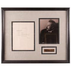 Framed Letter and Photograph from Albert Einstein to Sarah Newland