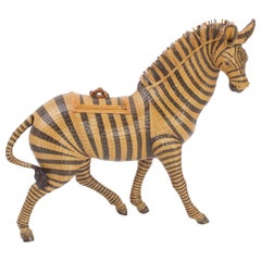 Charming Wicker Zebra Box