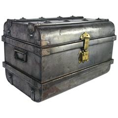 Nickel-Plated Steel Trunk