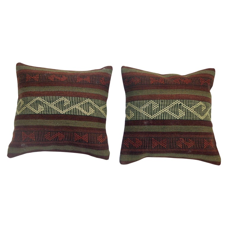Pair of Kilim Pillows For Sale