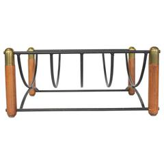 Stylish Midcentury Magazine Rack or Log Holder