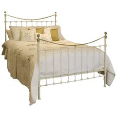 Brass and Iron Bed in Cream, MK94