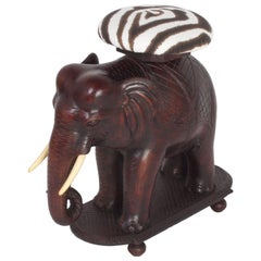 Impressive Anglo Indian Elephant Bench or Stool