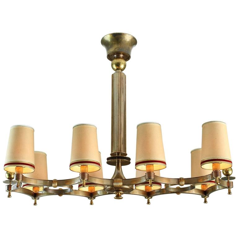 Exceptional Chandelier by Maxime Old, 1946 For Sale