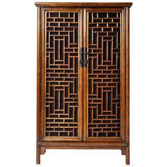 Chinese Lattice Cabinet