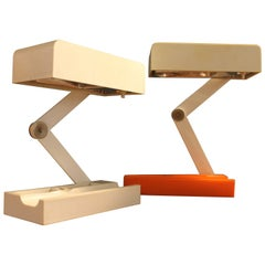 Two Fontana Arte Candle Table Lamps by Giotto Stoppino