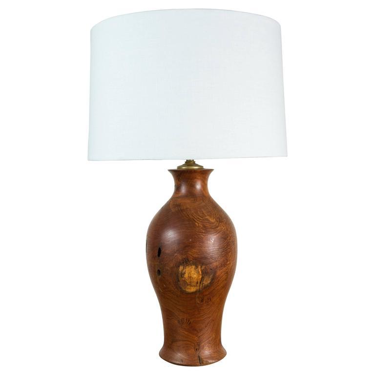 Vintage Burl Wood Lamp 1