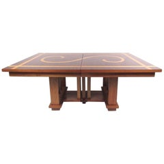 Impressive Dining Table in the Style of Frank Lloyd Wright