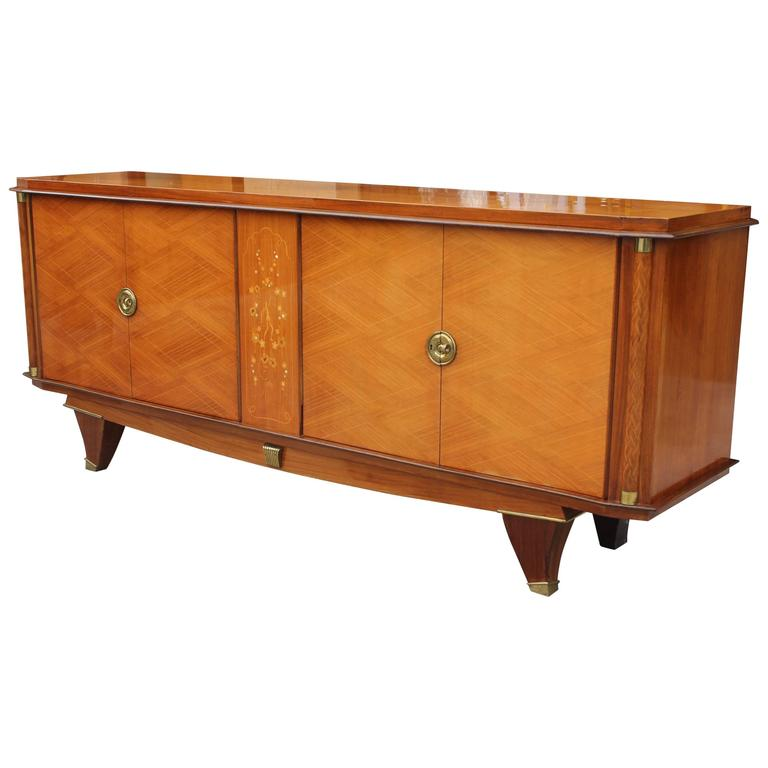 fine french art deco palisander sideboard or buffet m o p jules leleu style for sale at 1stdibs. Black Bedroom Furniture Sets. Home Design Ideas