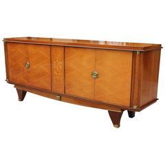 Fine French Art Deco Palisander Sideboard or Buffet, M-O-P, Jules Leleu Style