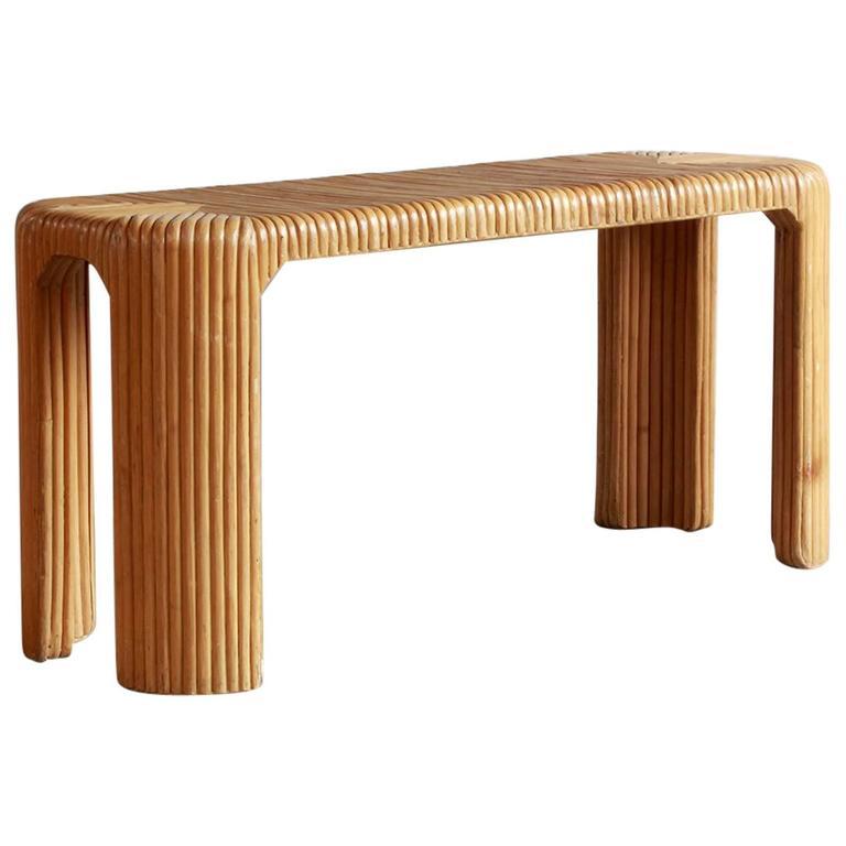 Four Legged Bamboo Console Table 1
