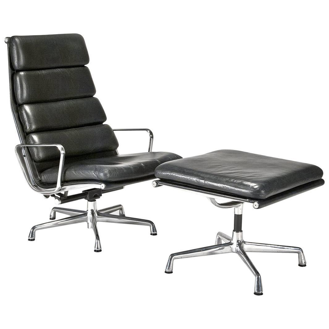 Eames Soft Pad Lounge Chair leather soft pad executive chair and ottomancharles and ray