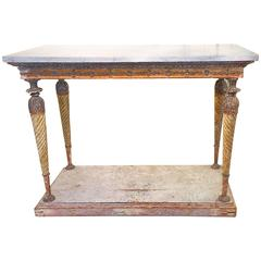 19th Century Swedish Gustavian Mable-Top Console