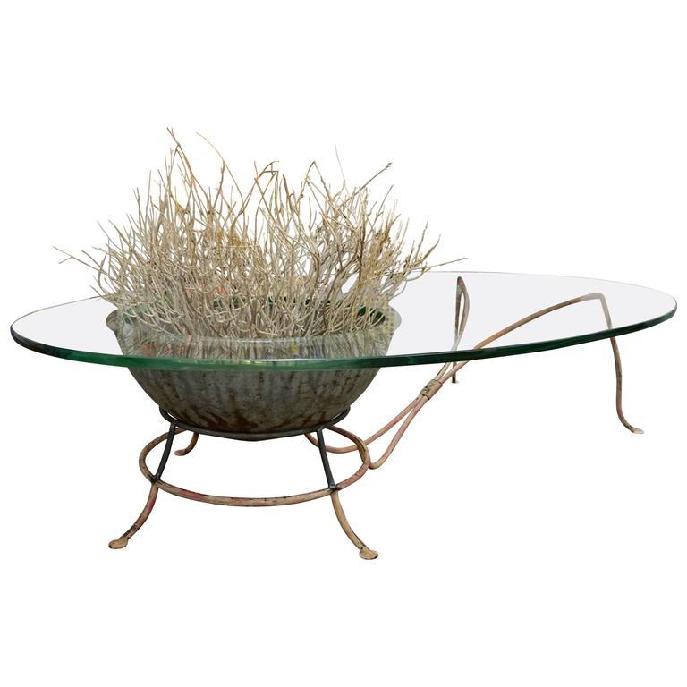 Unusual Glass Top Coffee Table 1