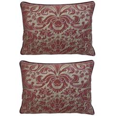 Pair of Italian Fortuny Textile Pillows
