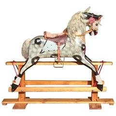 Handmade Hand-Painted Large Rocking Horse By Collinson of Liverpool