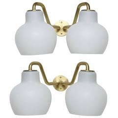 Vilhelm Lauritzen Wall Lamps, a Pair