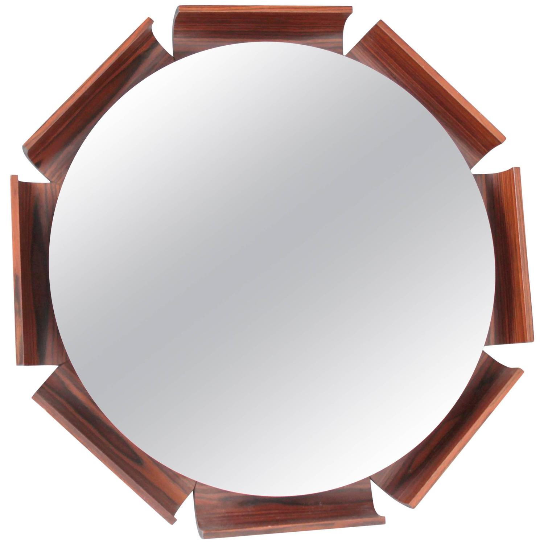 Italian Backlit Rosewood Mirror By ISA Bergamo
