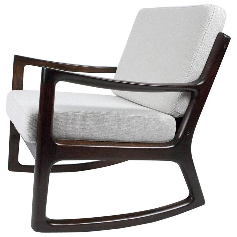 Ole Wanscher Rosewood Rocking Chair Circa 1960 For