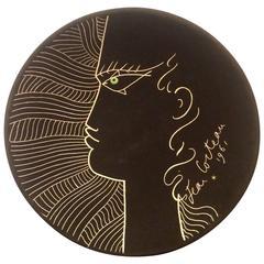 Jean Cocteau Original Edition Decorative Ceramic Plate, 1961