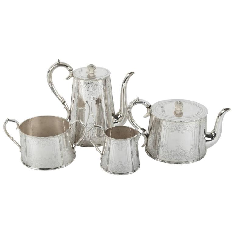 Old English Silver Plated Tea or Coffee Service