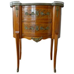 19th Century French Elegant Walnut Commode with Two Drawers