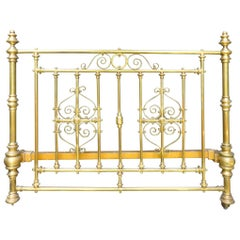 Magnificent 19th Century Brass Bedstead