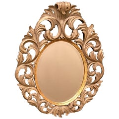 20th Century Large Vintage Oval Mirror by Harrison & Gil