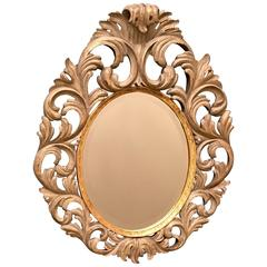 Large Vintage Oval Mirror by Harrison & Gil, 20th Century