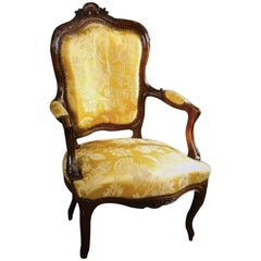 19th Century French Armchair in Louis XV Style