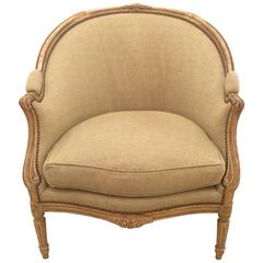 19th Century Louis XV French Bergere Chair
