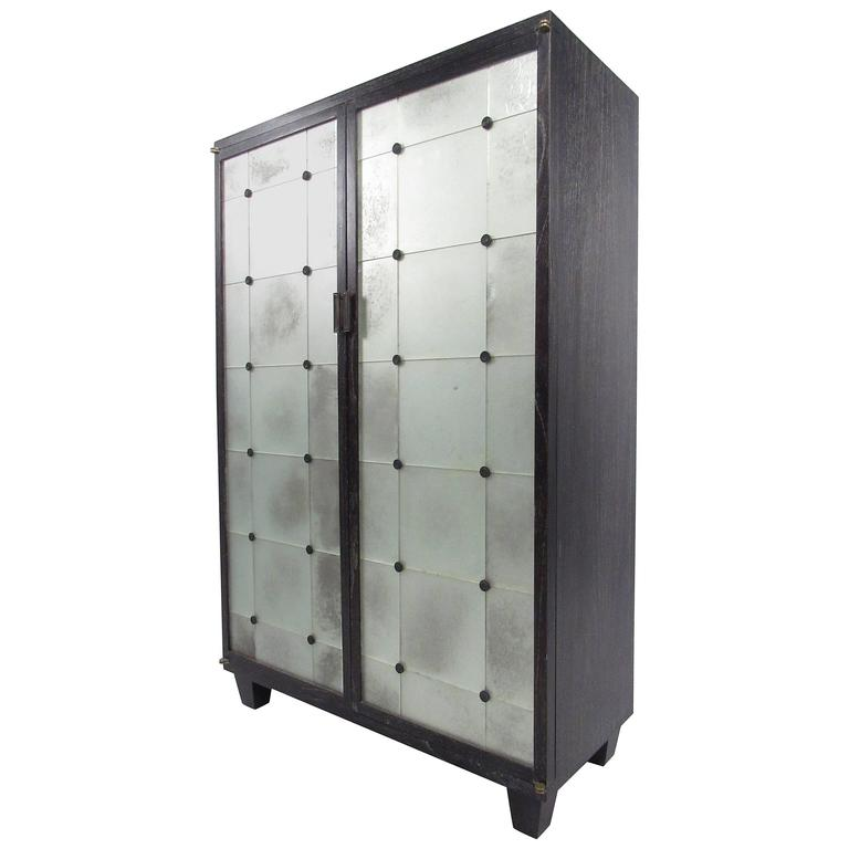 Contemporary Modern Glass Front Cabinet