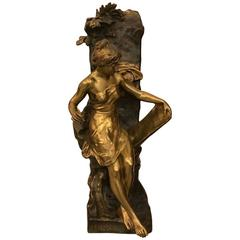 "Bronze Sculpture ""Memoria"" Signed by Emile Louis Picault"