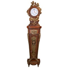 French Clock, circa 1870, Rosewood and Kingwood with Bronze Dore Castings