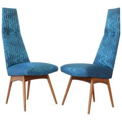 Mid-Century Chairs, Tall and Shapely