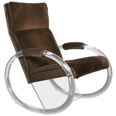 Lucite Rocking Chair by Charles Hollis Jones
