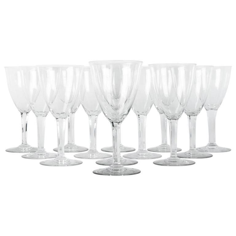 Vintage Set of 12 Baccarat Wine or Water Glasses