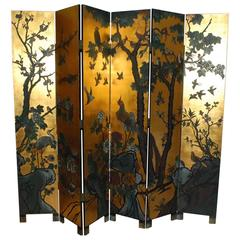 Six-Panel Folding Coromandel Screen